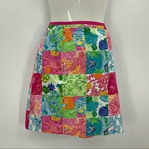 Lilly Pulitzer floral jungle print skirt 8